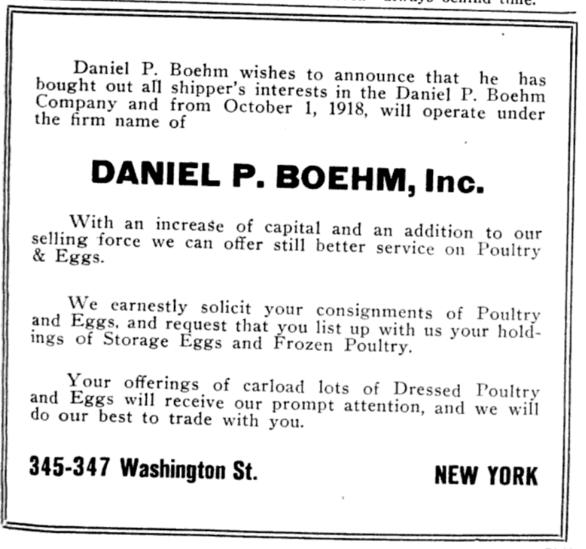 Daniel P. Boehm Reorg Ad