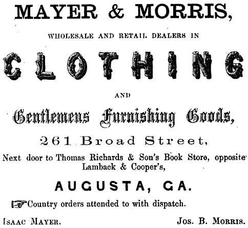 Mayer and Morris Clothing