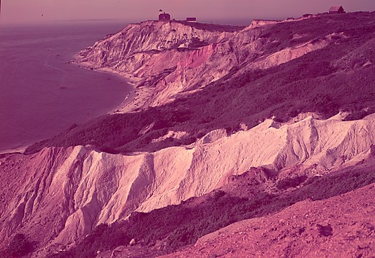 "Photo: Gay Head Cliffs, Martha's Vineyard, for Fortune Article ""Clay: The Commonest Industrial Raw Material"", Walker Evans  (American, St. Louis, Missouri 1903–1975 New Haven, Connecticut)"