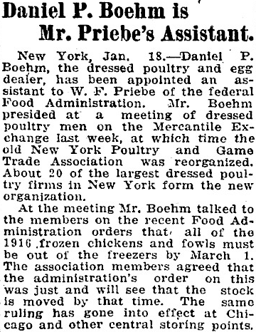Daniel P Boehm Appointed Priebe Assistant
